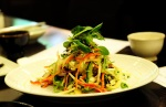 Tricycle shrimp salad