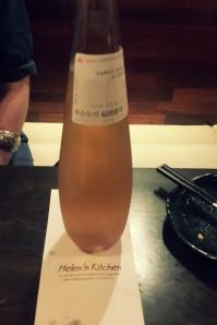Beoksundoga's experimental cheongju - An apple vinaigrette flavour!