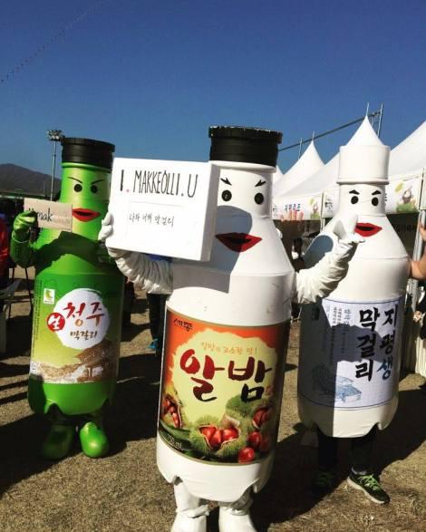 3 makgeolli bottles I Makgeolli U
